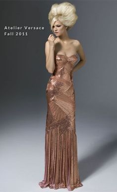 I love this bronze dress. Just amazing.