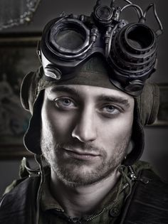 Steampunk guy. Wow. Those eyes. That somber look.