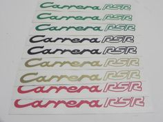 """(New) 911 """"Carrera RSR"""" Rear Duck-Tail Engine Lid Decal"""