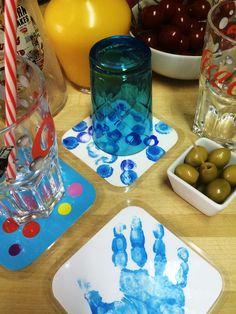 Sous-verres colorés - Fête des pères 2016
