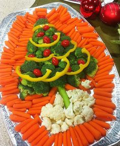 Veggie Christmas Tree Tray