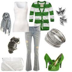 green+white stripe.