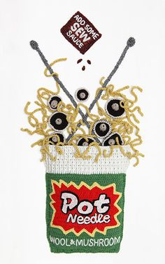 A marvellous meal of crocheted delicacies, inspired by some of the most recognisable foods on supermarket shelves.