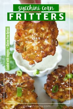 1 reviews · 30 minutes · Vegetarian · Serves 18 · Enjoy the bounty of summer veggies with this scrumptious appetizer for Zucchini Corn Fritters. These sweet corn fritters are loaded with healthy, fresh vegetables, in a simple buttermilk batter… Zucchini Vegetable, Grilled Vegetable Recipes, Grilled Vegetables, Vegetable Side Dishes, Veggies, Fresh Vegetables, Side Dish Recipes, Lunch Recipes, Appetizer Recipes