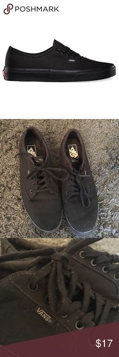 Vans Black Lace Up Size 10 Vans Black Lace Up Size 10. Great Condition! Barely Worn (2-3 times). Authentic Vans True Size 10. Pics look a little dusty because they have just been sitting around the house. Vans Shoes Sneakers