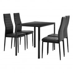 [en.casa] Tavolo da pranzo moderno + sedie in un set di 4 145,60 € Dining Chairs, Kit, Furniture, Home Decor, Home, Chairs, Dinner Room, Home Accessories, Living Room