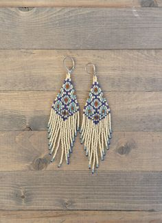 Morrocan Tiles Fringe earrings