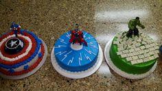 Avengers cakes