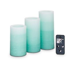 Blue Ombre Light Illusions™ LED Pillar Garden & Remote