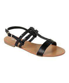 Black Glitter Isolde Sandal
