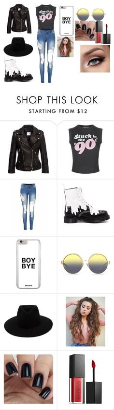 """Acting Class"" by thatgothchic on Polyvore featuring Anine Bing, Wildfox, Dr. Martens, Matthew Williamson, rag & bone and Smashbox"