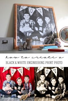 Create a BIG impact with a black and white engineering print (for cheap!) #photo #tutorial