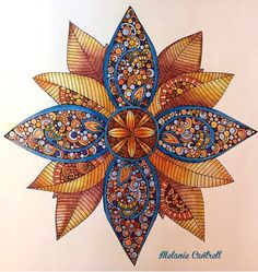 "Design from, Design Original's, ""Creative Coloring Mandalas"" by Valentina Harper. (Photo share only, no link to website.)"