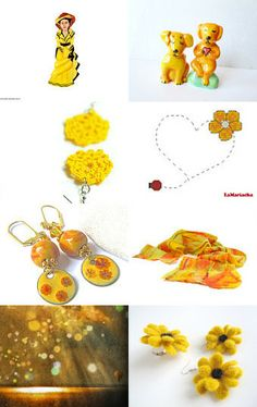 Check out gorgeous and bright #Etsy treasures of #yellow. PUCKER UP !! by Sisters on Etsy--Pinned with TreasuryPin.com