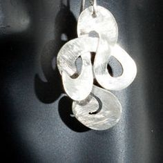 Amatzyt | Potamydes Silver Earrings from The Wave Collection by Mikky Eger $228