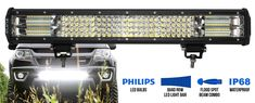 This LED Light Bar is the best companion for driving at night and low light conditions, even on rainy weather with its 4 rows and flood spot beam. Waterproof Led Lights, Rainy Weather, Led Light Bars, Bar Lighting, Low Lights, Offroad, Quad, Beams, The Row