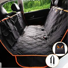 Dog Seat Cover Car Seat Cover for Pets Pet Seat Cover Hammock 600D Heavy Duty Waterproof Scratch Proof Nonslip Durable Soft Pet Back Seat Covers for for Citroen C1