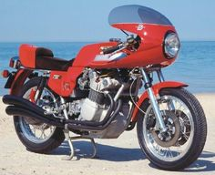 The 1977 MV Agusta 750S America was one of the last models in the MV Agusta line. See more motorcycle pictures.