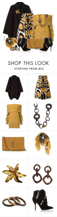 """Wilderness woman"" by ana-kreb ❤ liked on Polyvore featuring Helmut Lang, Giles, 'S MaxMara, Yves Saint Laurent, Burberry, Tiffany & Co., Nest, NOVICA and Paul Andrew"