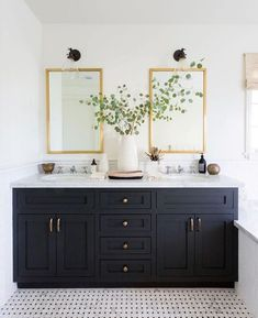 Mixing Metal Finishes in the Bathroom | Centsational Style