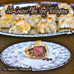Beef recipes :Salt-Crusted Mini Beef Wellingtons Recipe