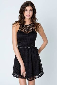 Tally Weijl, black lace skater dress