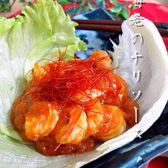 SnapDishに投稿されたゆりえさんの料理「レンジde海老チリ」です。「簡単に出来るのにちゃんとした海老チリ       お弁当用として活躍します」レンジ 海老チリ 簡単