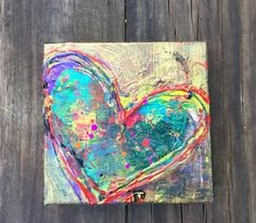 of Hearts, Heartache Series, Kunstjournal Inspiration, Art Journal Inspiration, Painting Inspiration, Heart Painting, Love Painting, Painting Abstract, Heart Artwork, Original Art, Original Paintings