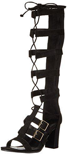 Qupid Women's Lucite-04A Gladiator Sandal, Black, 7.5 M US * Click image for more details.