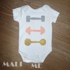 Dumbbell Infant/Toddler/Kids by MALInME on Etsy