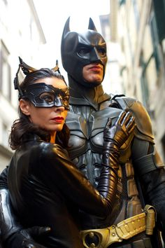 Bat and Cat Cosplay
