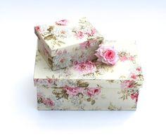 Kisten & Boxen - 2 Kästchen,Schachtel,Rosen,Blumen,Duo,Aufbewahrung - ein Designerstück von ars-unica bei DaWanda