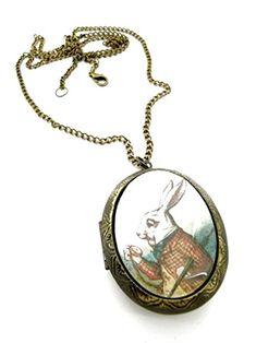 "Fallen Saint White Rabbit ""I'm Late, I'm Late"" Locket Necklace Review"