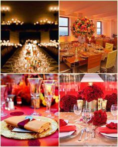 fotos de decoracion de salones de bodas en colores calidos