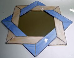 Tiffany stained glass mirror