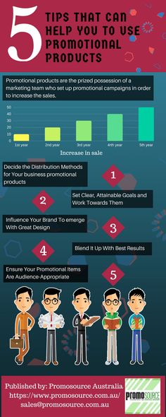 Good Promotional products is like buliding a framework for your promotional campaign. In this infographic, you will get to know about the 5 tips that can help to use promotional products for your clients.  #promotionalproducts #promotion #items #sale #business #growth #brand #australia #sydney #melbourne