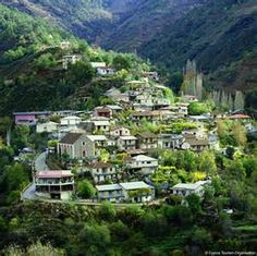 Ikos village on Troodos Mountains in Cyprus