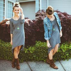 Knit hi-lo dress - BUY @ Shop20sgirlstyle