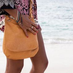 My Style: The Bahamas: The perfect beach vacation day to night outfit. Printed Romper with Will Leather Goods Saddlebag, Lionettes Avish Necklace, and BASKE California sandals