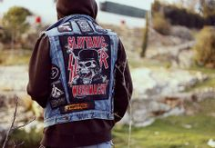 #leather #denim #rockers #metallers #punks #battle jackets #street fashion #rock chicks #rock dude #i am a rocker #hell bent for leather #studs and leather