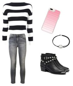 """""""Untitled #1"""" by tabicat05 ❤ liked on Polyvore featuring Boutique Moschino, Senso, Casetify, Current/Elliott and Alex and Ani"""