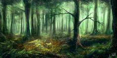 Forest by rambled.deviantart.com on @DeviantArt