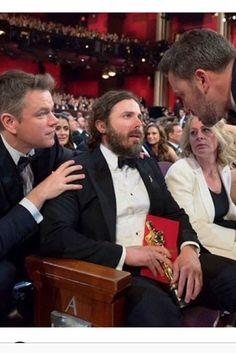 Casey Affleck digesting his Oscar win with Matt & Ben
