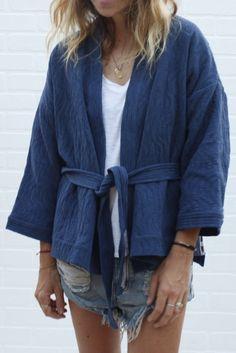 quilted kimono jacket | JACKETS // CAZADORAS | Pinterest | Kimono ... : quilted kimono jacket - Adamdwight.com