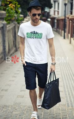 Trendy Printing Short Sleeves Men's T-Shirt