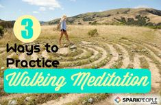 Check out these 3 ways to clear your mind with walking meditation. You can do it anywhere-- and it's SO relaxing! | via @SparkPeople