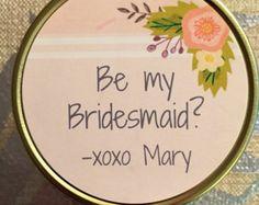 Will You Be My Bridesmaid Candle, Mason Jar, Soy, Customized, handmade Bridesmaid Candles, Bridesmaid Favors, Bridesmaid Proposal, Personalized Candles, Handmade Candles, Matron Of Honour, Maid Of Honor, Stand By You, Will You Be My Bridesmaid