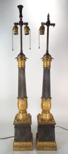 Pr Massive Carcel Ormolu Lamps, French, C. Antique Oil Lamps, Antique Lighting, Vintage Lamps, Classic Architecture, Look Vintage, Hanging Lights, Wall Sconces, Modern Decor, Chandelier