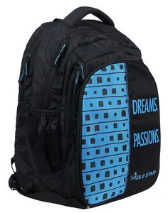"29a034b80953 ""BIG-4"" 40 Lt Black Skyblue Casual Backpack I School Bag – POLE STAR"
