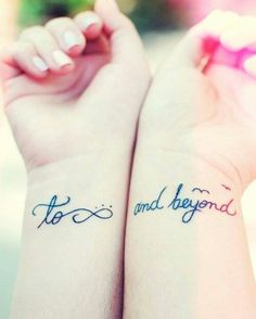 A most thorough guide on Best friend tattoos (BFF tattoos). They make a memorable gift which two friends can give to each other. Bff Tattoos, Faith Tattoos, Best Friend Tattoos, Wrist Tattoos, Future Tattoos, Love Tattoos, Beautiful Tattoos, Tattoo Quotes, Tatoos